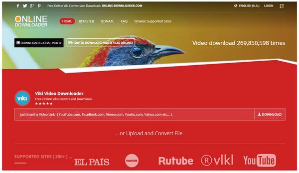 Downloader online di Viki