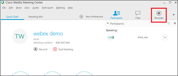WebEx Meeting - How to Join/Record WebEx Meeting