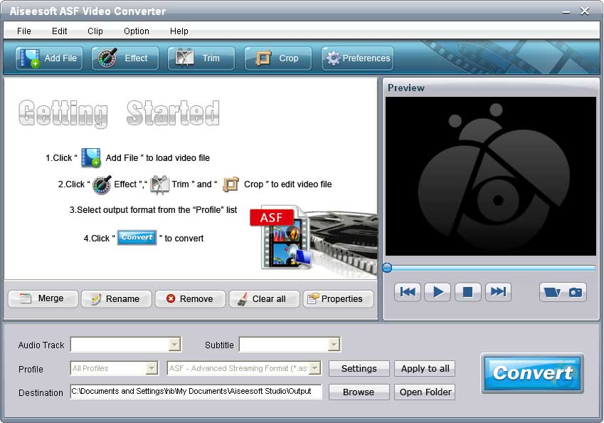Click to view Aiseesoft ASF Video Converter screenshots