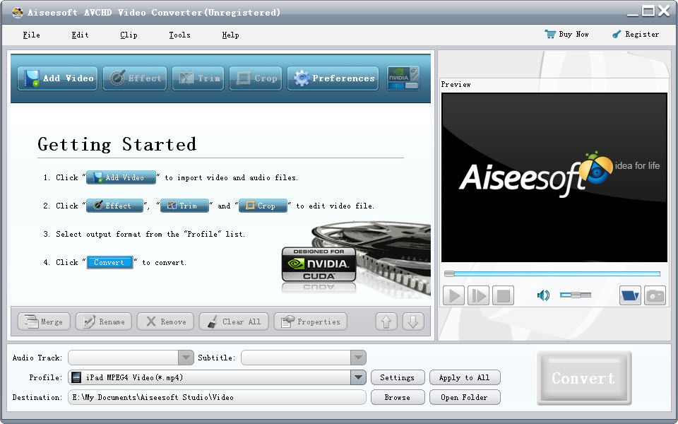 Click to view Aiseesoft AVCHD Video Converter 6.3.62 screenshot