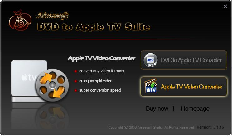 Click to view Aiseesoft DVD to Apple TV Suite screenshots