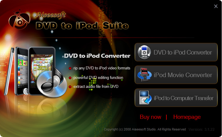Aiseesoft DVD to iPod Suite 6.3.06