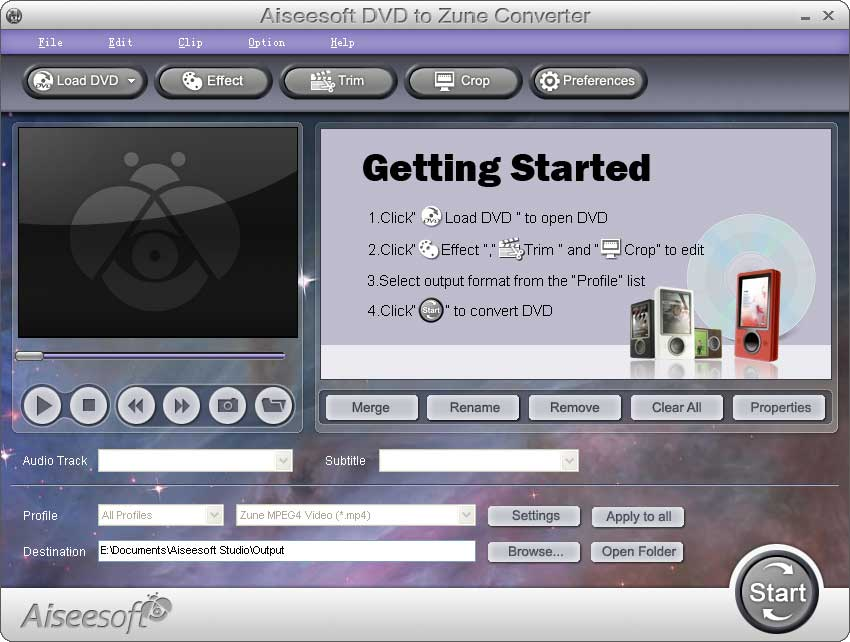 Click to view Aiseesoft DVD to Zune Converter screenshots