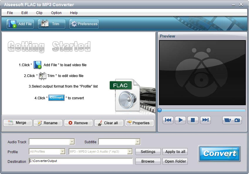 Click to view Aiseesoft FLAC to MP3 Converter screenshots