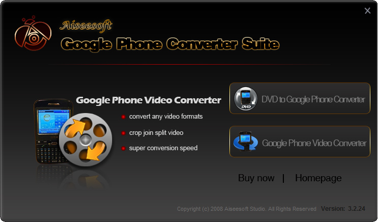 Click to view Aiseesoft Google Phone Converter Suite screenshots
