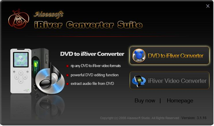 Click to view Aiseesoft iRiver Converter Suite screenshots