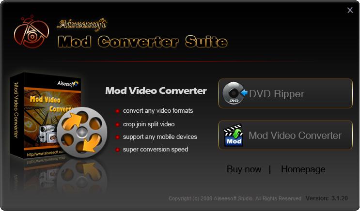 Aiseesoft Mod Converter Suite 6.2.20
