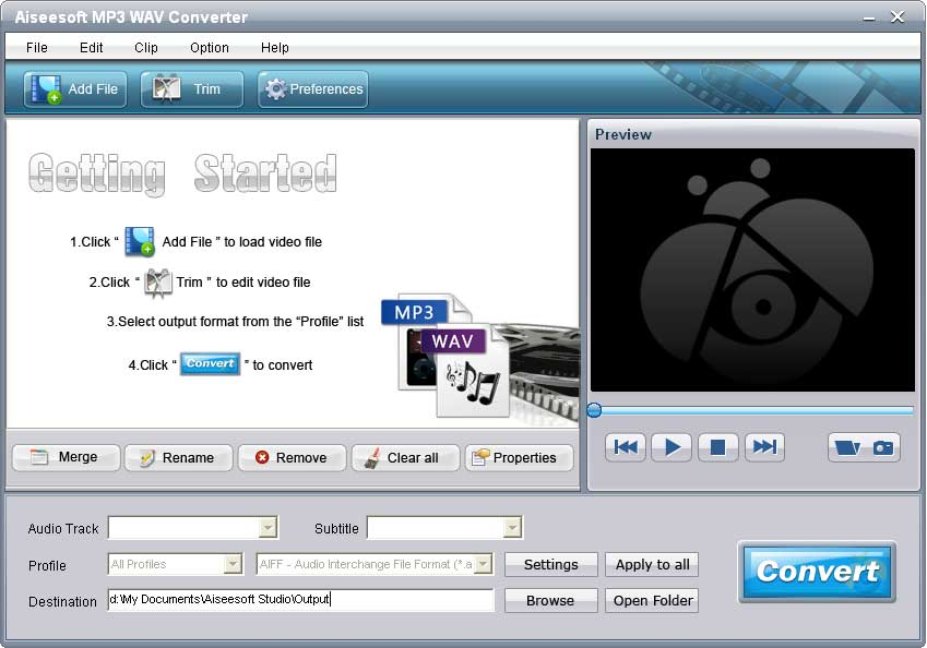 Aiseesoft MP3 WAV Converter screenshot