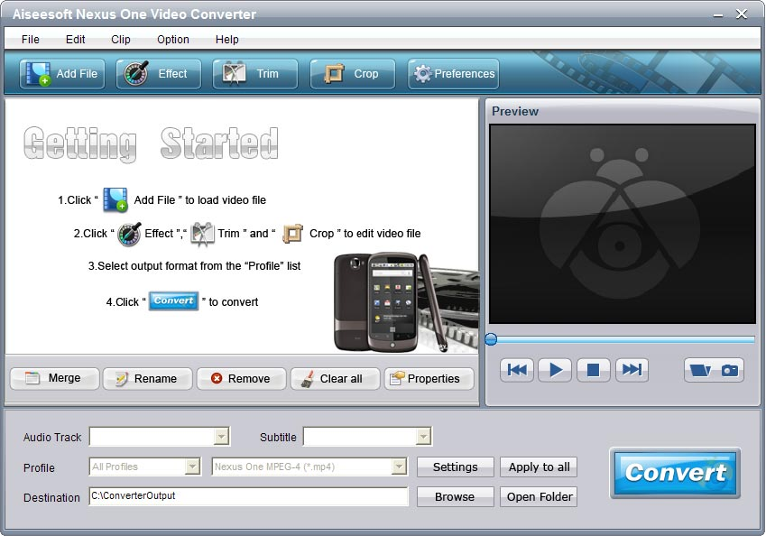 Click to view Aiseesoft Nexus One Video Converter screenshots