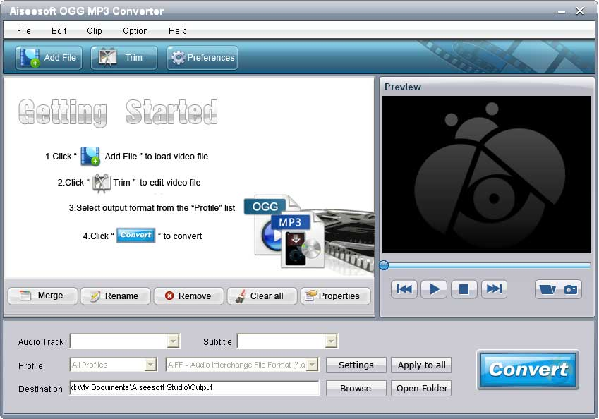 Click to view Aiseesoft OGG MP3 Converter screenshots