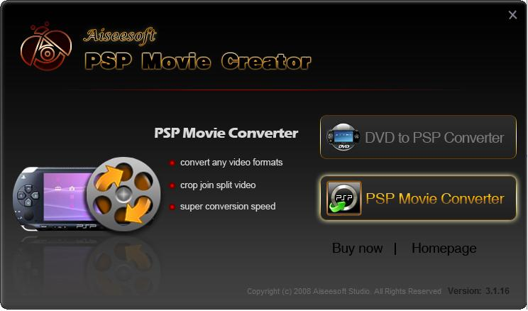 Aiseesoft PSP Movie Creator screenshot