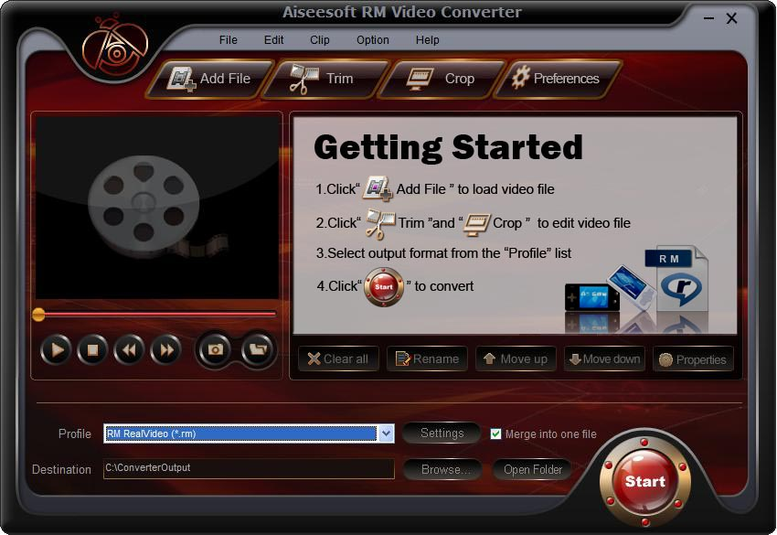 Click to view Aiseesoft RM Video Converter screenshots