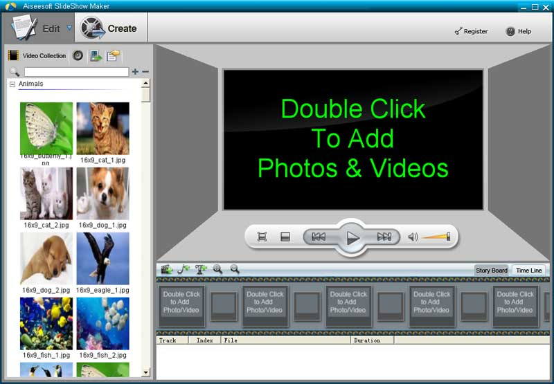Click to view Aiseesoft SlideShow Maker screenshots
