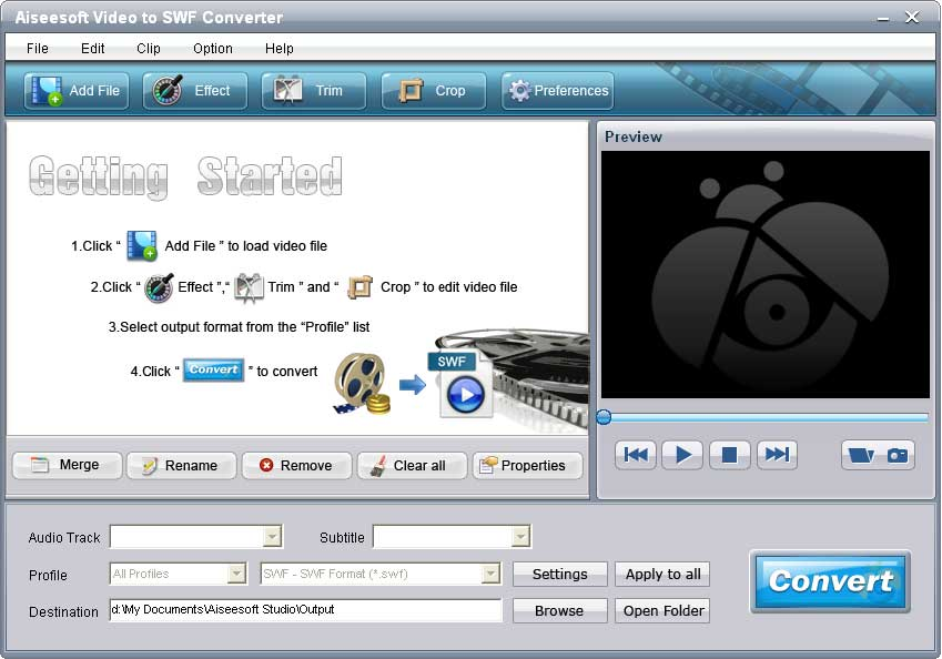 Aiseesoft Video to SWF Converter screenshot