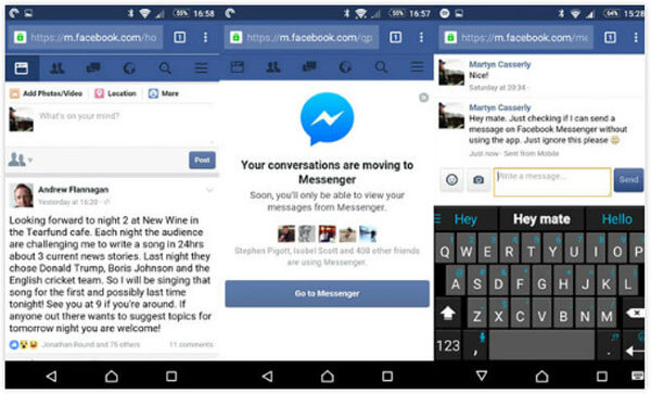 messenger without facebook account