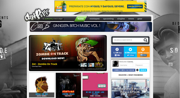 Popular Sites like DatPiff to Download Free MP3 Music