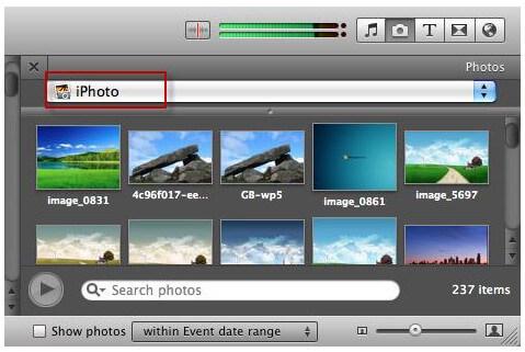 在iMovie中為幻燈片添加照片