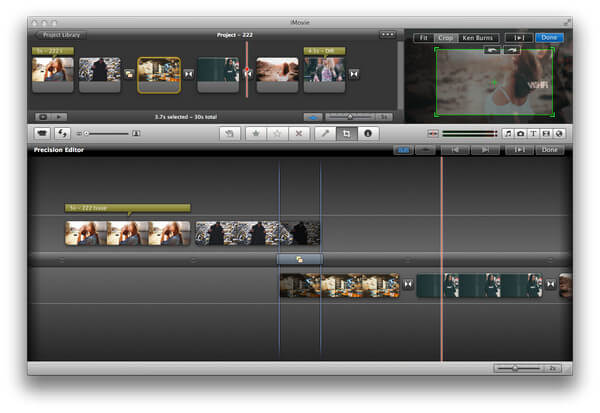 Crop Video on iMovie