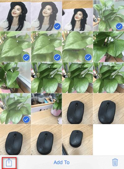 在iPhone上選擇照片