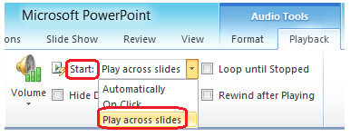Make Slidershow with Music in Powerpoint