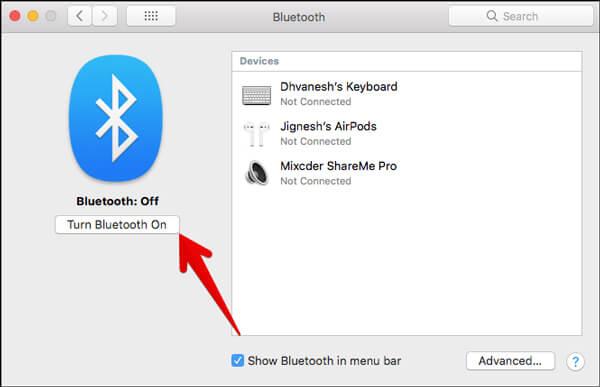 Attiva il Bluetooth
