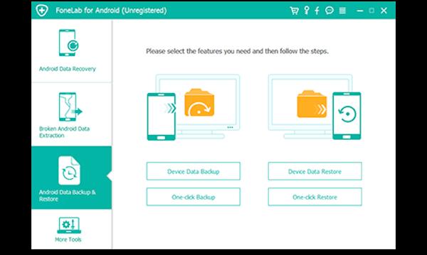 Avvia Backup e ripristino dati Android