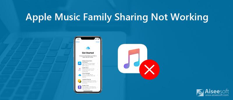 Η κοινή χρήση οικογένειας Apple Music δεν λειτουργεί