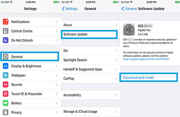 Aggiorna il software iPhone in modalità wireless