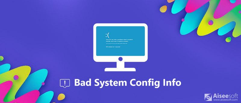 Informazioni di configurazione del sistema errate