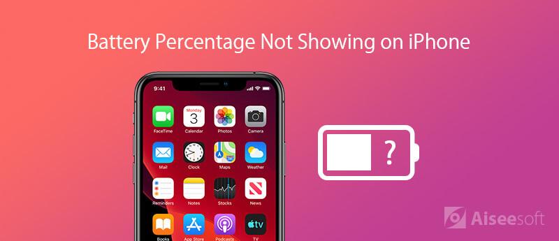 Percentuale della batteria non visualizzata su iPhone