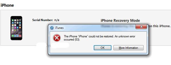 Errore 53 dell'iPhone