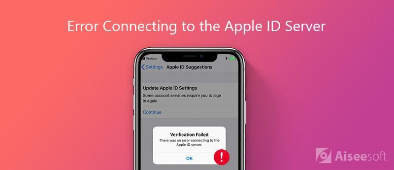 Correggi l'errore durante la connessione al server ID Apple