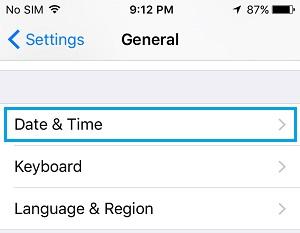 Datumtijdinstellingen op iPhone