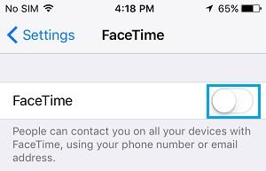 Schakel FaceTime op iPhone uit