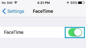 Schakel FaceTime iPhone in