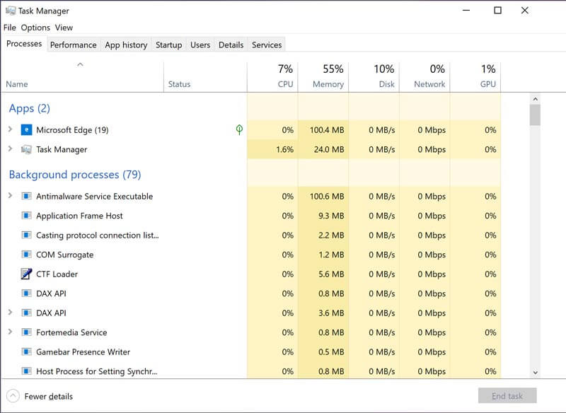 Απελευθέρωση μνήμης CPU