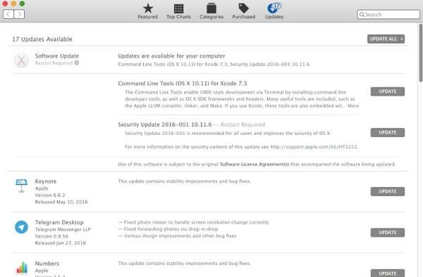 Aggiorna sistema Mac