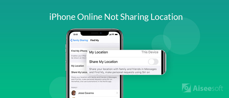 Find My iPhone Online Not Sharing Location