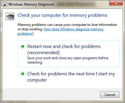 Controlla la memoria del computer