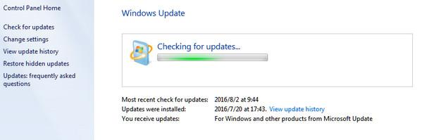 Aggiorna il sistema Windows