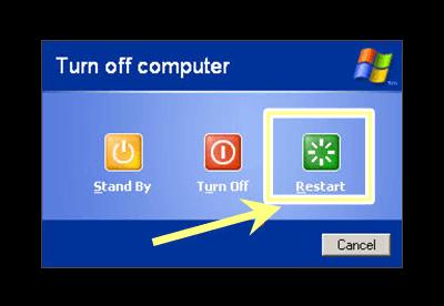 Riavvia il PC