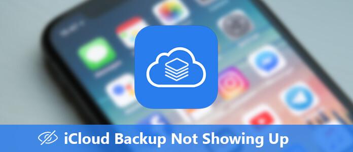iCloud Bbackup se nezobrazuje