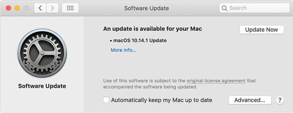 Aggiorna Mac