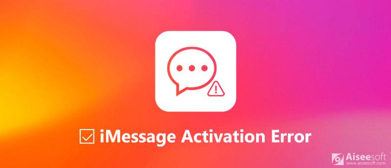 Napraw błąd aktywacji iMessage