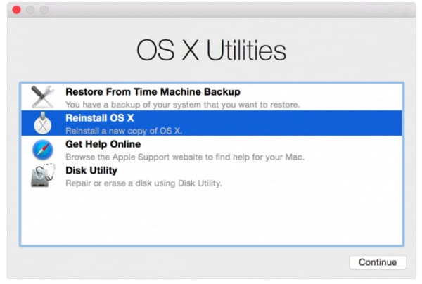 Reinstall Mac OS-X With Internet Recovery