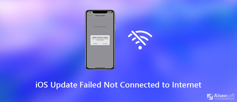 iOS Update not Connected to Internet