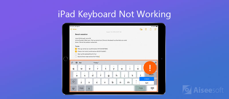 Fix iPad Keyboard Not Working