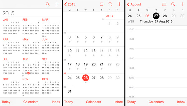 iPhone Calendar Refresh