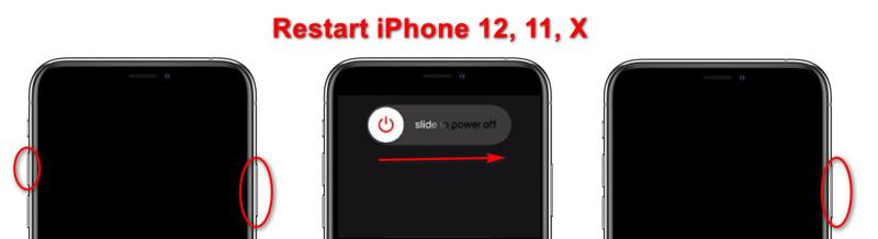 Restartujte iPhone