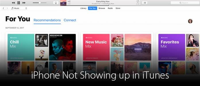 iPhone visualizzato in iTunes